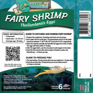 Fairy Shrimp thailandensis product