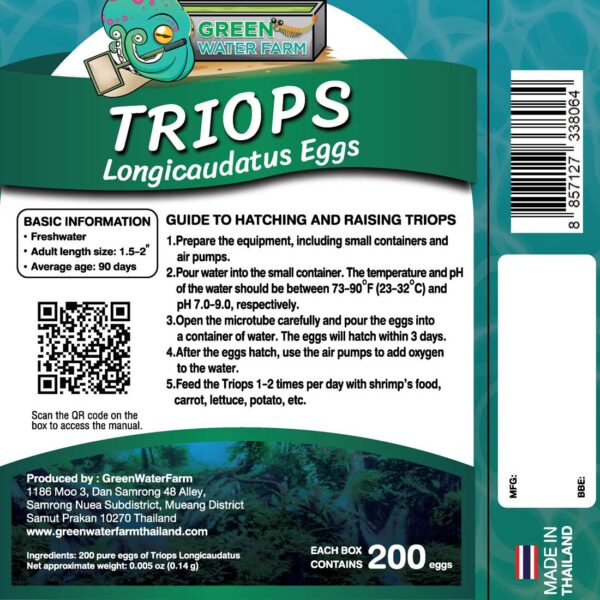 How to hatching triops